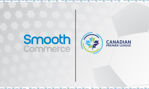 Smooth Commerce and Canadian Premier League logos